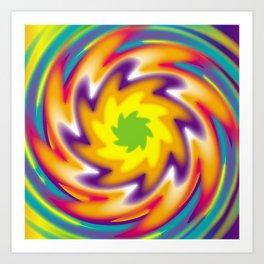Colorful radial pattern Art Print