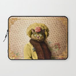 Lady Vanderkat with Roses Laptop Sleeve