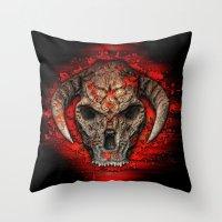 diablo Throw Pillows featuring Diablo by Digital Dreams