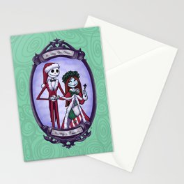 Merry Halloween Jack & Sally Skellington | Nightmare Before Christmas Stationery Cards
