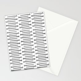 Silver Screws Texture Poster Stationery Cards