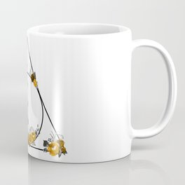 Deathly Hallows in Gold and Gray Coffee Mug