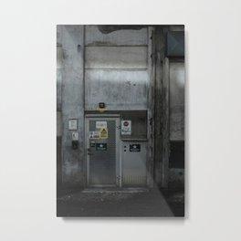 The Dark Metal Door (Color) Metal Print