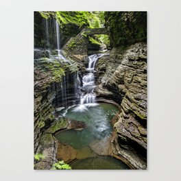 Rainbow Falls - Watkins Glen, NY Canvas Print