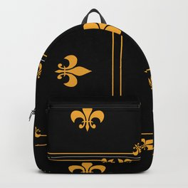 Gold And Black Backpack