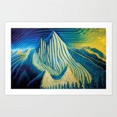 Mt Grohman Art Print