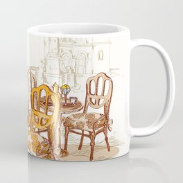 Street Cafe Sketch Coffee Mug