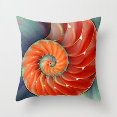 Nautilus Shell - Nature's Perfection by Sharon Cummings Throw Pillow