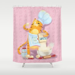 Baking with Cat: Step Two Shower Curtain