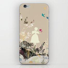 girl in the garden  iPhone Skin