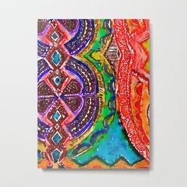 Pattern Frenzy Metal Print