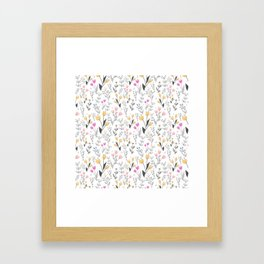 The Cute Floral Pattern II Framed Art Print