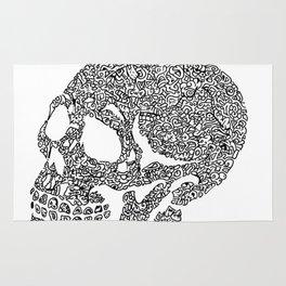 Skull doodle Rug