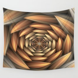 Fractal Buds Tunnel Wall Tapestry