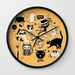 Cat Menagerie Wall Clock