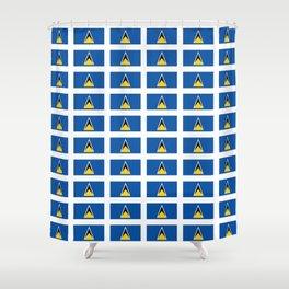 Sainte lucieFlag of Saint Lucia-Saint Lucia,Sainte Lucie,Saint Lucian,Lucien,Castries. Shower Curtain
