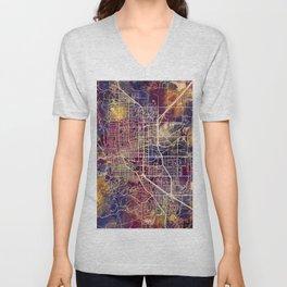 Boulder Colorado City Map Unisex V-Neck