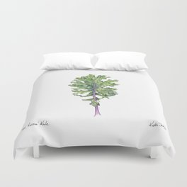 Red Russian Kale Duvet Cover
