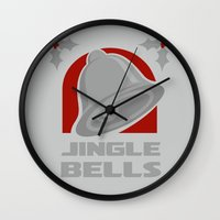 Jingle Bell - Silver Wall Clock