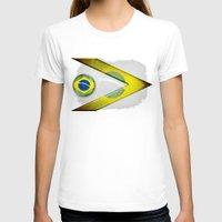 brasil T-shirts featuring Brasil by ilustrarte