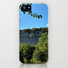 rock cliff at lim channel fjord istria croatia europe iPhone Case