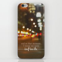the perks of being a wallflower iPhone & iPod Skins featuring perks of being a wallflower - we were infinite by lissalaine