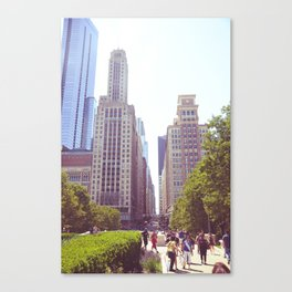Bustling City  Canvas Print