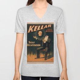 Vintage poster - Kellar the Magician, Self-Decapitation Unisex V-Neck