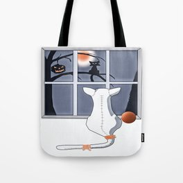 Watching on a Blue Night Tote Bag