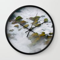 rush Wall Clocks featuring Rush by Adrienne Page
