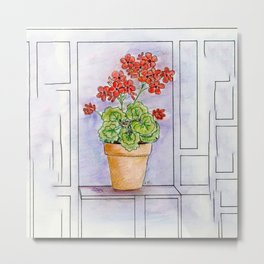 The Pot Geranium Metal Print