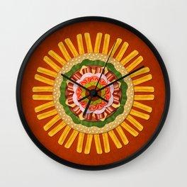 Bacon Cheeseburger with Fries Mandala Wall Clock