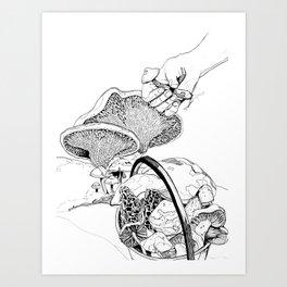 Mushroom Hunters Art Print