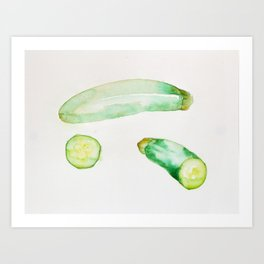 Zucchini Art Print