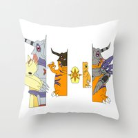 courage Throw Pillows featuring Courage by Grimm Company