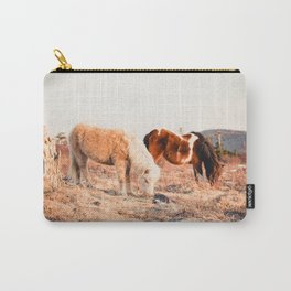 Two Horses Having Dinner Carry-All Pouch