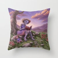 fancy Throw Pillows featuring Fancy by Benjamin Clair