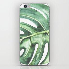 Watercolor Monstera leaf iPhone Skin