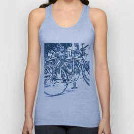 Blue Bicycles Unisex Tank Top