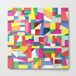 Colorful grid design Metal Print