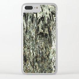 Green Fiber Clear iPhone Case