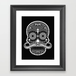 Black Skull  White Suits Framed Art Print