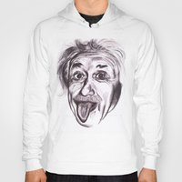 einstein Hoodies featuring Einstein by Alicia Evans