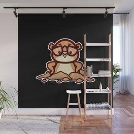 Groundhog Gift Wall Mural