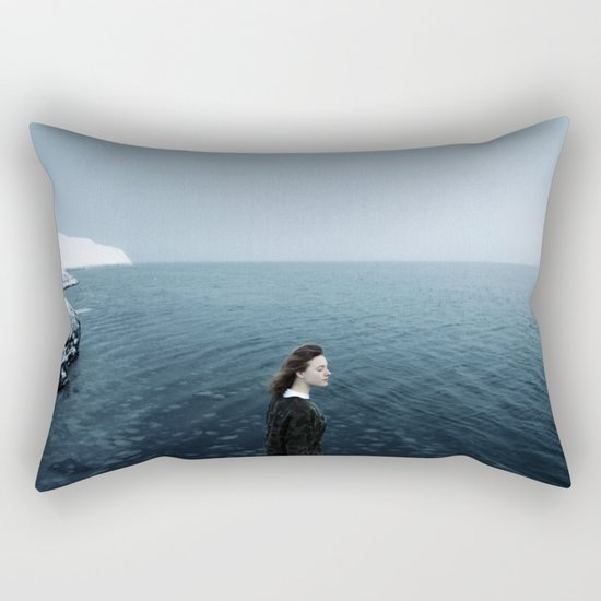 Girl ocean ice mountain Rectangular Pillow