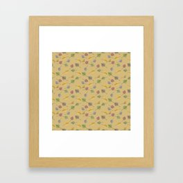 Colorado Aspen Tree Leaves Hand-painted Watercolors in Golden Autumn Shades on Jute Beige Framed Art Print