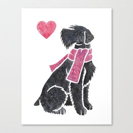 Watercolour Giant Schnauzer Canvas Print