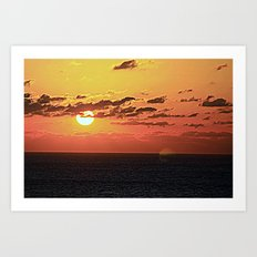 End of Day Fire Art Print