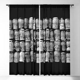 Something Nostalgic #4 Black and White #decor #society6 #buyart Blackout Curtain