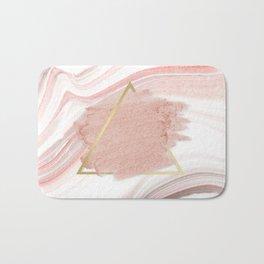 Blush Pink Geometric Bath Mat